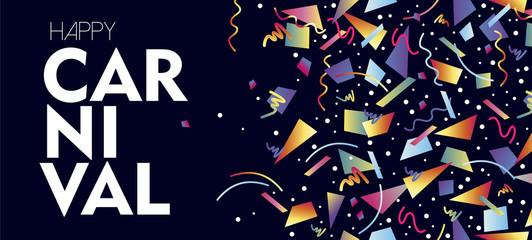 Carnival concept design with colorful confetti