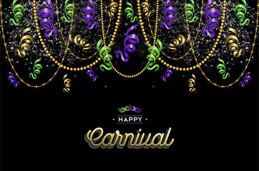 Happy carnival design background decoration