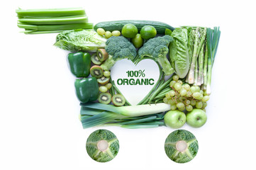 Organic groceries concept