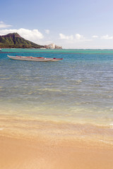 Boats Float Pacific Ocean Diamond Head Oahu Waikiki Hawaii