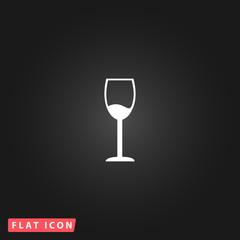 Wine glass vector icon. Alcohol drink symbol.