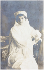 old photo portrait of nurse