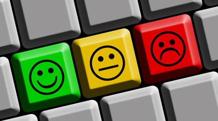 Keyboard vote emotion