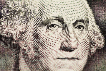 Washington's portrait on dollar
