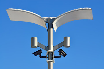 Surveillance cameras and modern lighting