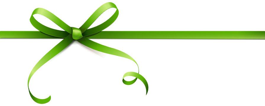 Grüne Schleife mit Kringel