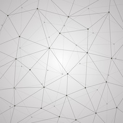 Abstract vector background, geometry, lines and points, triangles, technology wallpaper