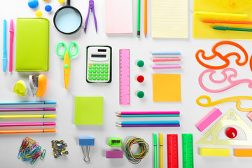 Back to school concept. Colourful concept isolated on white background