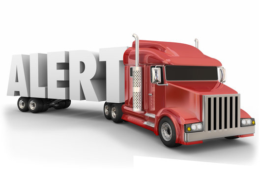 Alert Word Truck Driver Stay Awake Safety Transportation Travel