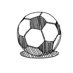 vector hand drawing sketch soccer ball illustration