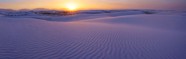 Susnet over the White Sands of New Mexico