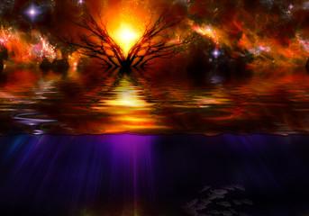 Sunfall Landscape