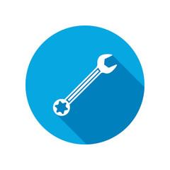 Wrench key icon. Repair fix tool symbol.