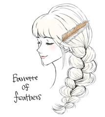 三つ編みに合うヘアアクセサリー