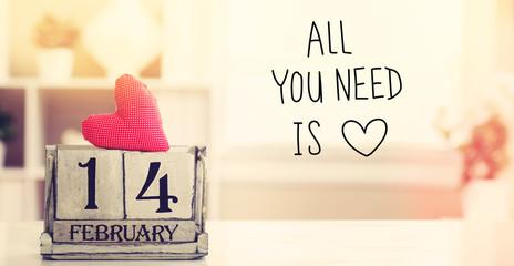 Valentines Day message