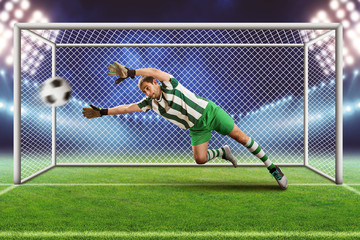 Goalkeeper on the field