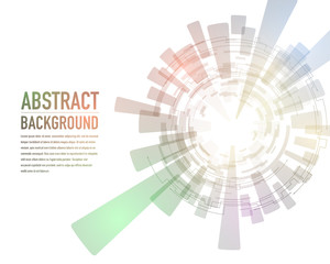 technological abstract image, concentration and rotation, vector illustration