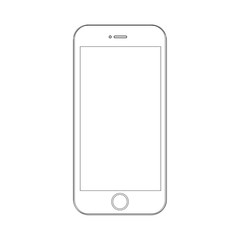 Phone on a white background with lines