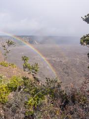 Kilauea Caldera Rainbow