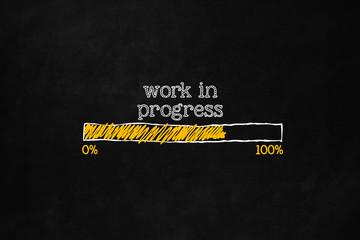 Work in progress loading bar Fotomurales