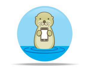otter beaver odents vector logo