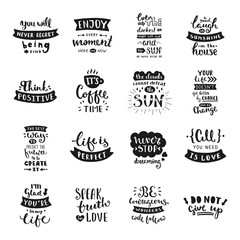 Hand drawn lettering collection