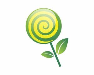 lollipop leaf candy image vector