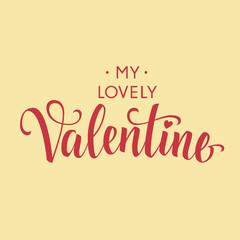 My Lovely Valentine Inscription 1