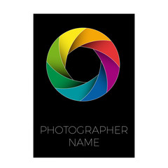 Vector sign photographer, colorful diaphragm of the lens