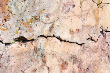 Fissure on wall