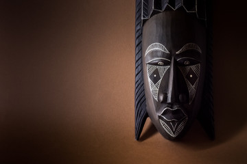 Black wooden mask