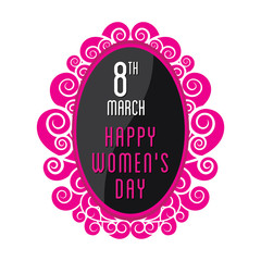 creative happy womens day greeting design vector