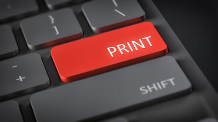 computer keyboard print