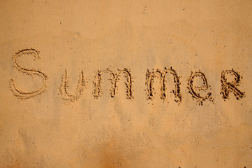 Summer, written in the sand