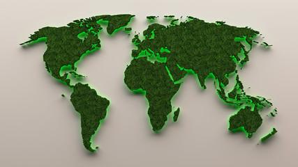 Search photos 3d world map 3d world map ecology concept publicscrutiny Images