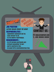 Job finder TV advertisement