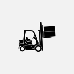 forklift delivery truck   icon