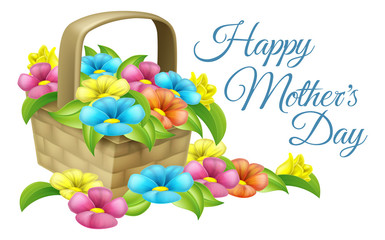 Happy Mothers Day Flower Basket