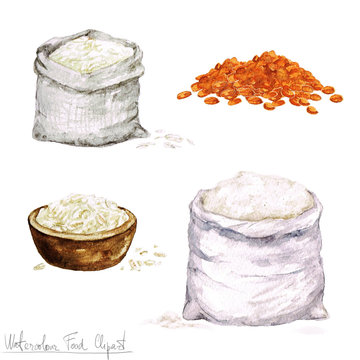 Watercolor Cooking Clipart -