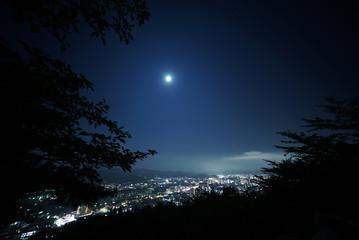 福島県 信夫山からの夜景
