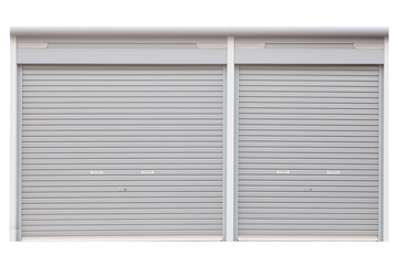 Building shutter door isolated on white background
