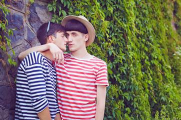 Interracial gay men kiss mp4