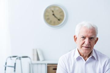 Senior man with disability