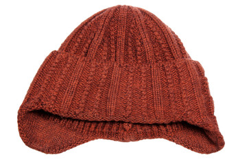Knitted brown cap