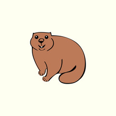 Funny marmot animal rodent