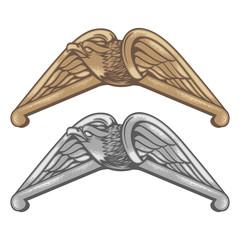 vintage vector illustration eagle emblem