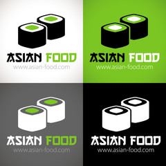 logo restaurant asiatique sushi vert