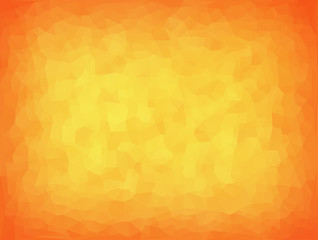 vector illustration - yellow-orange abstract mosaic triangle background