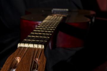 one Spanish guitar
