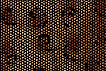 Mosaik mit krummen Linien
